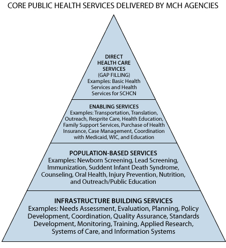 MCH Pyramid of Health Services